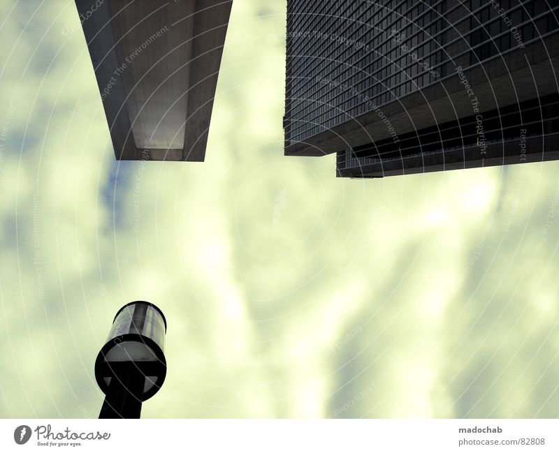 GRAPHICAL BEHAVIOUR Himmel Stadt blau Wolken Haus Fenster Leben Architektur Gebäude Freiheit fliegen Business oben Arbeit & Erwerbstätigkeit Wohnung Design