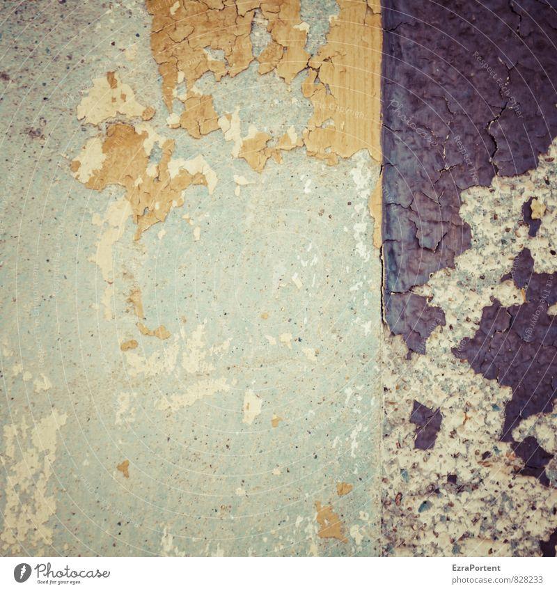 Neu! Haus Bauwerk Gebäude Mauer Wand Fassade Stein Beton alt hässlich kaputt trashig braun grau Farbstoff Farbe abblättern Trennung Teilung Putz