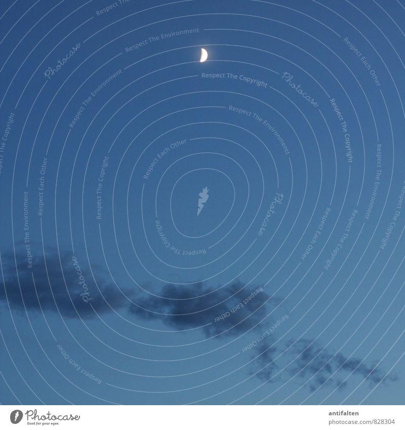 Mondlichtmilieu Umwelt Natur Urelemente Luft Himmel nur Himmel Wolkenloser Himmel Nachthimmel Stern Vollmond Frühling Sommer Herbst Schönes Wetter Sichelmond