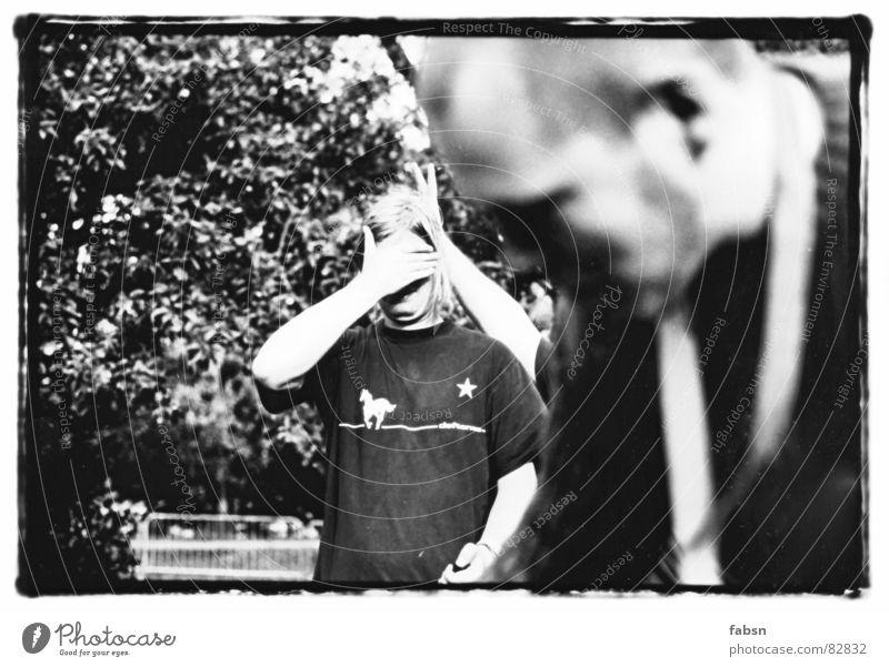 THIS AIN`T A HAIRCUT Mann Junger Mann Auge Spielen maskulin Angst Musik T-Shirt Ohr Hemd Konzert Langeweile dumm Löffel blind Gefolgsleute