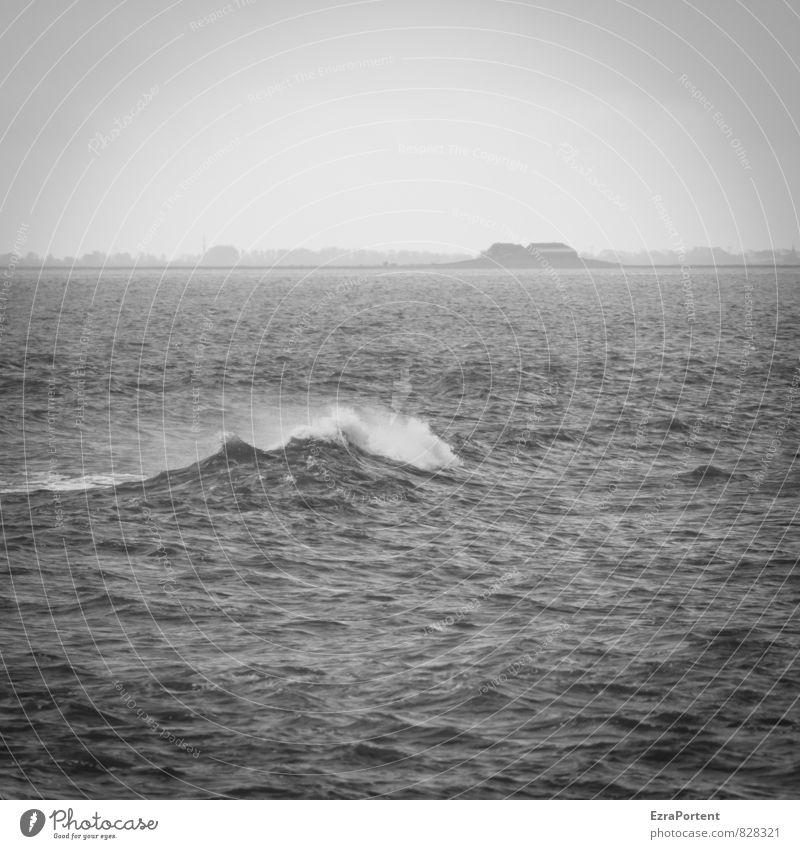 Welle! Ferien & Urlaub & Reisen Tourismus Ausflug Ferne Freiheit Umwelt Natur Landschaft Luft Wasser Himmel Wind Wellen Küste Nordsee Meer Bewegung dunkel