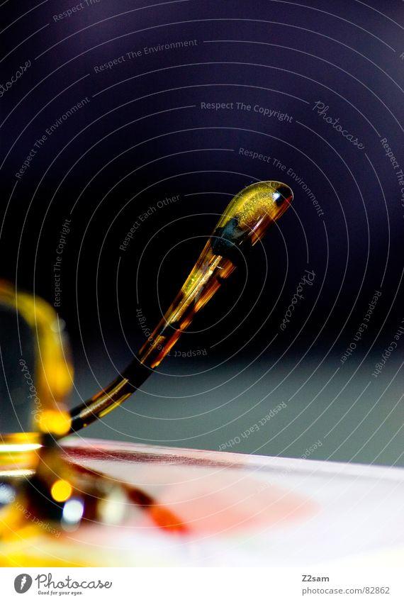 glaswurm Wurm Tragegriff Kleiderbügel Tisch Brille Lesebrille lesen lang Makroaufnahme rot gelb gepunktet Muster Verlauf Dinge Glas mehrfarbig Farbe Blick