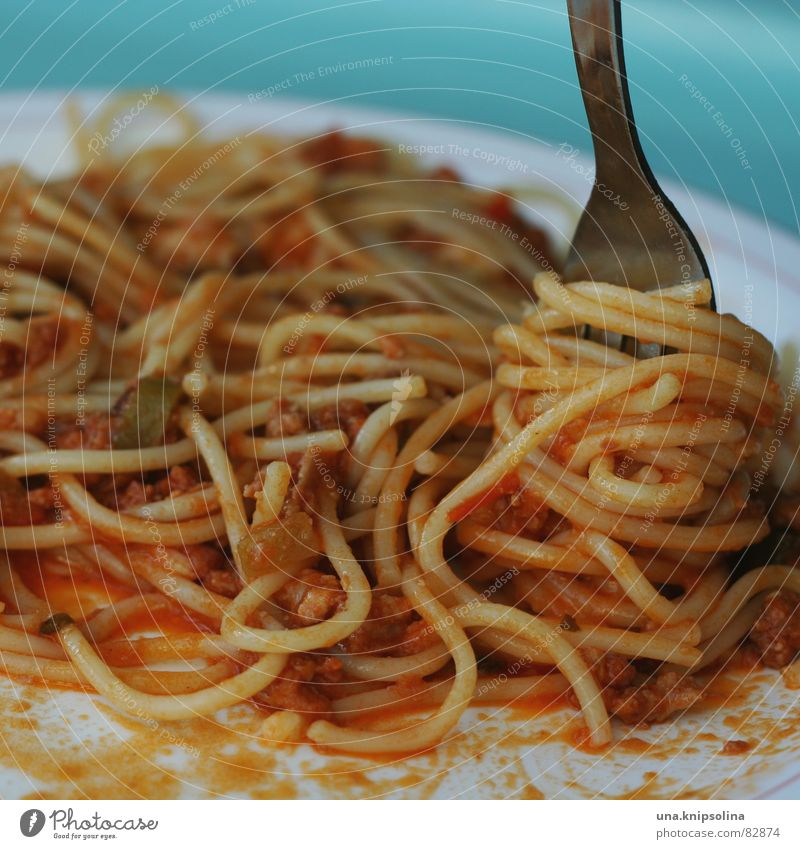 yammie Lebensmittel Teigwaren Backwaren Ernährung Mittagessen Abendessen Festessen Teller Besteck Gabel lecker Spaghetti Speisesaal Nudeln Tablett Paprika
