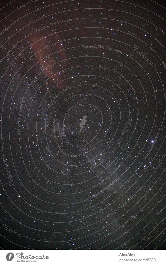 nach den Sternen greifen Himmel Natur alt weiß Ferne schwarz fliegen leuchten ästhetisch Perspektive groß fantastisch Flugzeug Weltall Fernweh