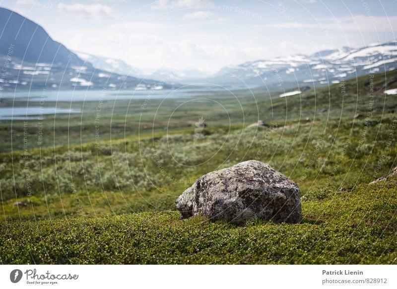 Berglandschaft in Nordschweden Erholung Ferien & Urlaub & Reisen Tourismus Ausflug Abenteuer Ferne Freiheit Camping Umwelt Natur Landschaft Urelemente Luft