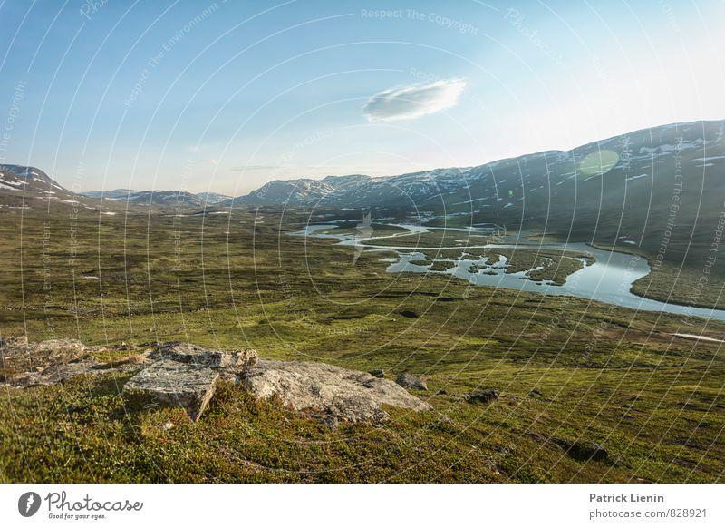 Abendlicht Himmel Natur Ferien & Urlaub & Reisen Sommer Erholung Landschaft Wolken ruhig Ferne Berge u. Gebirge Umwelt Freiheit Wetter Zufriedenheit wandern