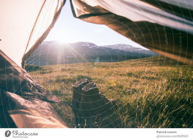 good morning sunshine Ferien & Urlaub & Reisen Sommer Erholung ruhig Ferne Berge u. Gebirge Wiese Freiheit Gesundheit Zufriedenheit Schuhe Tourismus wandern Ausflug Abenteuer Gipfel