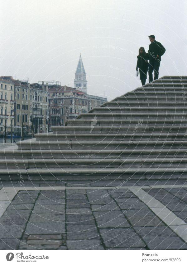 Campanile San Marco Ferien & Urlaub & Reisen Paar Treppe paarweise Tourismus Turm Italien Venedig Toskana Abwasserkanal Gotteshäuser Kirchturm