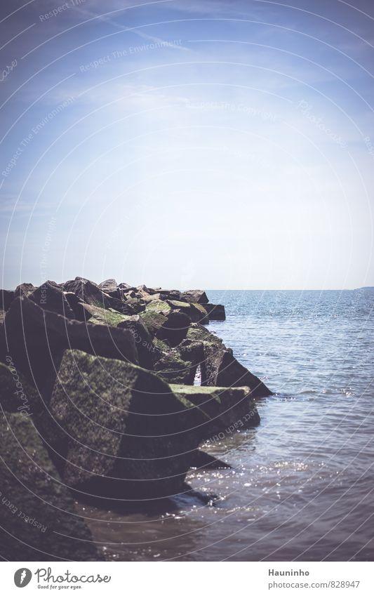 Wellenbrecher Ferien & Urlaub & Reisen Meer Natur Landschaft Urelemente Wasser Himmel Sonnenlicht Frühling Klima Wetter Schönes Wetter Atlantik New York City