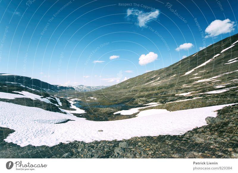 Tjaktja pass Himmel Ferien & Urlaub & Reisen Sonne Wolken Ferne Berge u. Gebirge Umwelt Frühling Schnee Freiheit Zufriedenheit Wetter Tourismus wandern Ausflug