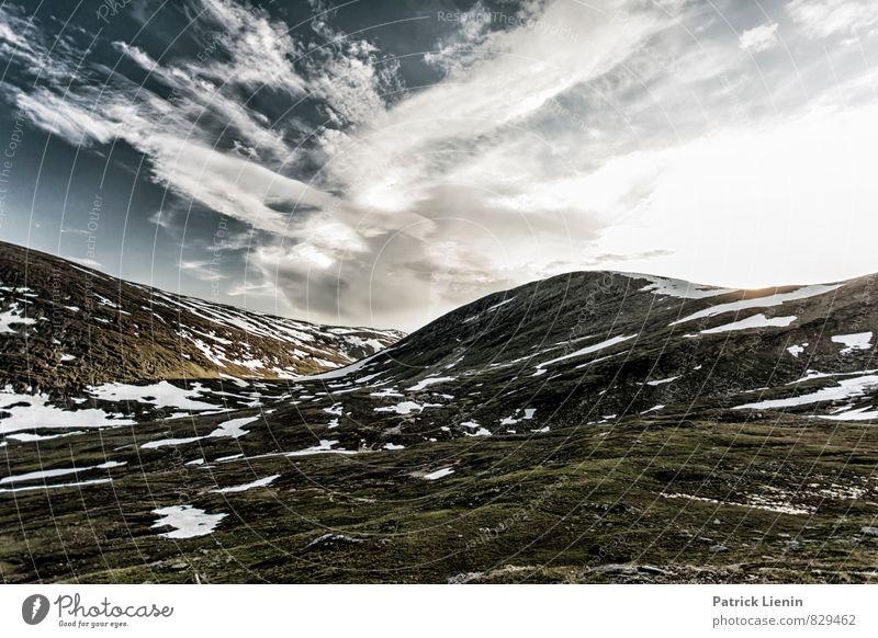 Letzter Schnee Himmel Natur Ferien & Urlaub & Reisen Erholung Landschaft Wolken Ferne Berge u. Gebirge Umwelt Freiheit Zufriedenheit Wetter Tourismus wandern