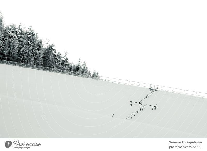 vogtlandwinter 2 Himmel Winter ruhig Einsamkeit kalt Schnee Wand Mauer Eis schlafen trist Frost Jahreszeiten direkt Geländer Barriere