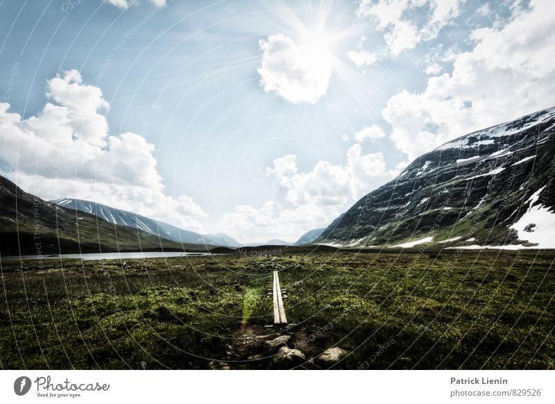 Mittelweg Natur Ferien & Urlaub & Reisen Sommer Landschaft Ferne Berge u. Gebirge Umwelt Lifestyle Freiheit Zufriedenheit Wetter wandern Ausflug Klima