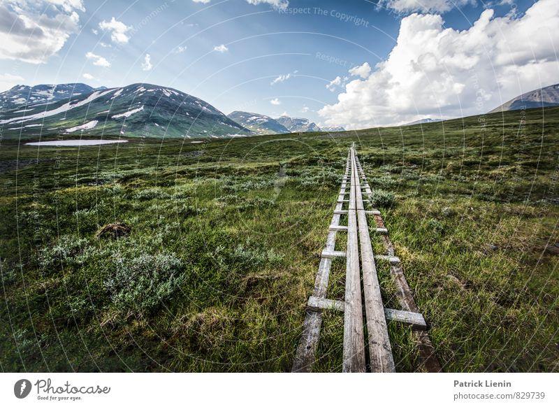 alone time Natur Ferien & Urlaub & Reisen Sommer Erholung ruhig Ferne Umwelt Berge u. Gebirge Freiheit Wetter Zufriedenheit Kraft Tourismus wandern Klima