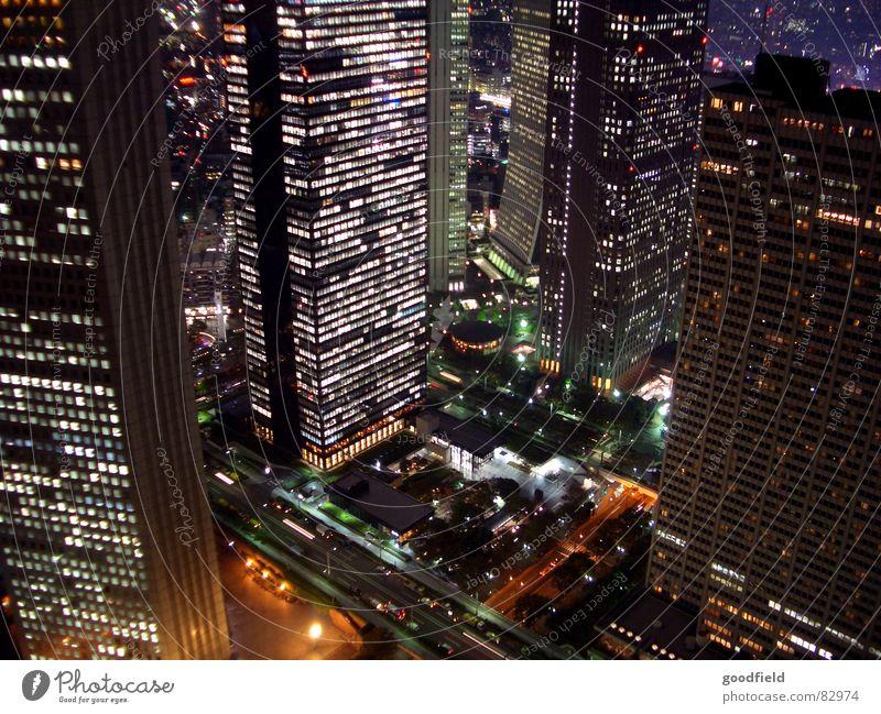 Tokio night light skyscraper Japan Nacht Licht Hochhaus Nachtaufnahme Tokyo hell hoch Beleuchtung