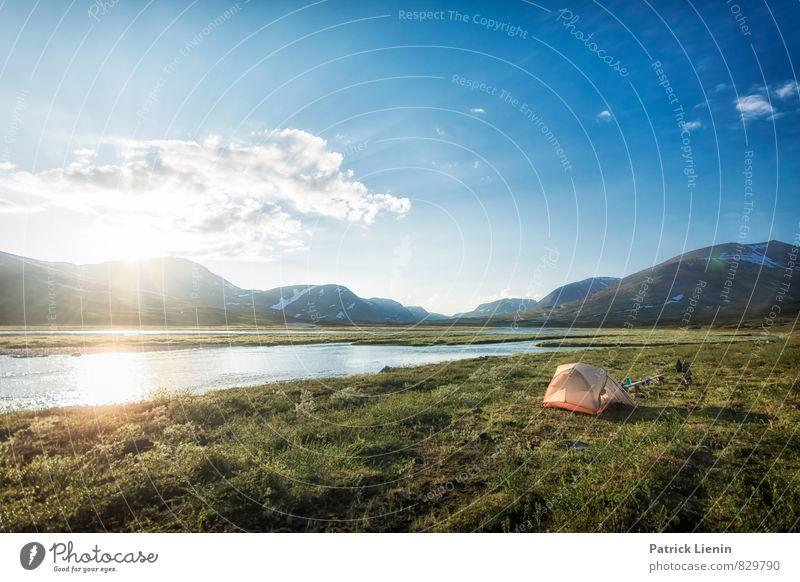 Mitternacht Himmel Natur Ferien & Urlaub & Reisen Pflanze Sommer Erholung Landschaft ruhig Wolken Ferne Umwelt Berge u. Gebirge Freiheit Wetter Zufriedenheit