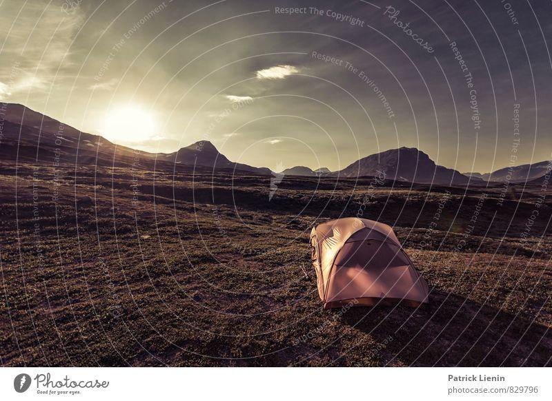 Backpackers Paradise Himmel Natur Ferien & Urlaub & Reisen Sommer Sonne Erholung Landschaft Wolken Ferne Berge u. Gebirge Umwelt Freiheit Felsen Zufriedenheit Wetter Luft