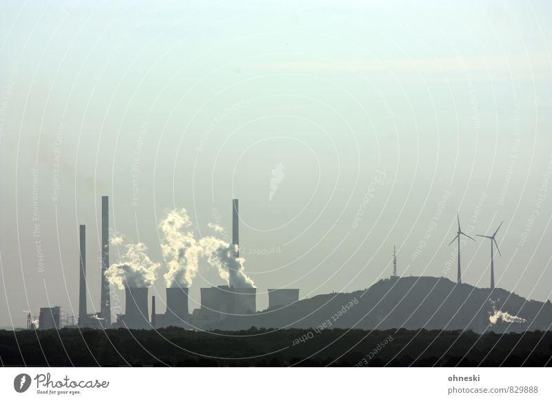 Energiewende II Wissenschaften Energiewirtschaft Erneuerbare Energie Windkraftanlage Energiekrise Industrie Ruhrgebiet Turm Kühlturm Schornstein Wasserdampf
