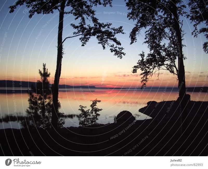 midsummer Natur Wasser Himmel Wolken Wald See Bucht Geister u. Gespenster Norwegen Paradies Skandinavien Wildnis Naturphänomene Sommersonnenwende Mitternachtssonne