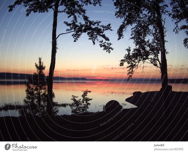 midsummer See Skandinavien Norwegen Wald Mitternachtssonne Morgen Wolken Sommersonnenwende Wildnis Geister u. Gespenster Naturphänomene Morgendämmerung Himmel