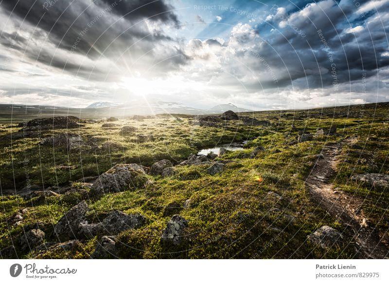 Midsommer Ferien & Urlaub & Reisen Tourismus Ausflug Abenteuer Ferne Freiheit Umwelt Natur Landschaft Urelemente Erde Luft Himmel Wolken Sonne Sonnenaufgang