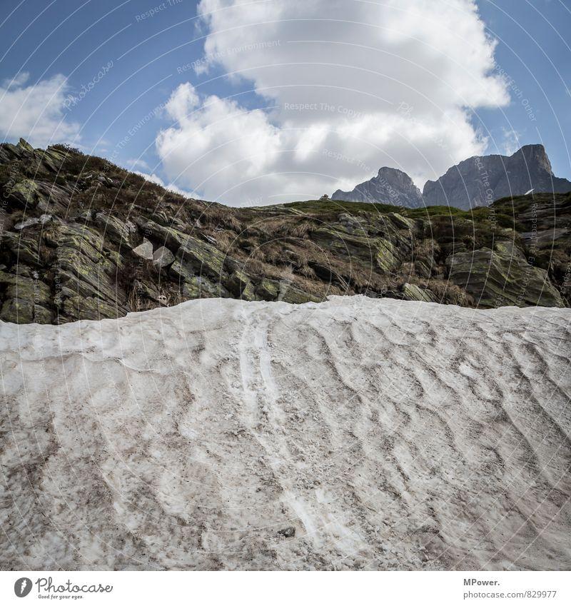kleine eiszeit Natur alt Landschaft Wolken Umwelt Berge u. Gebirge Schnee Felsen Eis Wetter dreckig Schönes Wetter Frost Alpen Spuren Schneebedeckte Gipfel