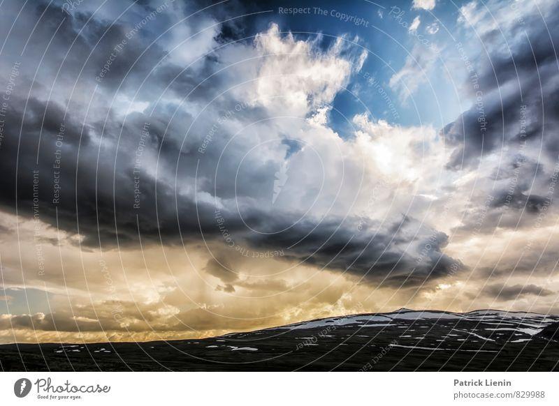 letters from the sky Himmel Natur Erholung Landschaft Wolken Ferne Umwelt Berge u. Gebirge Schnee Wetter Zufriedenheit wandern Klima ästhetisch Beginn
