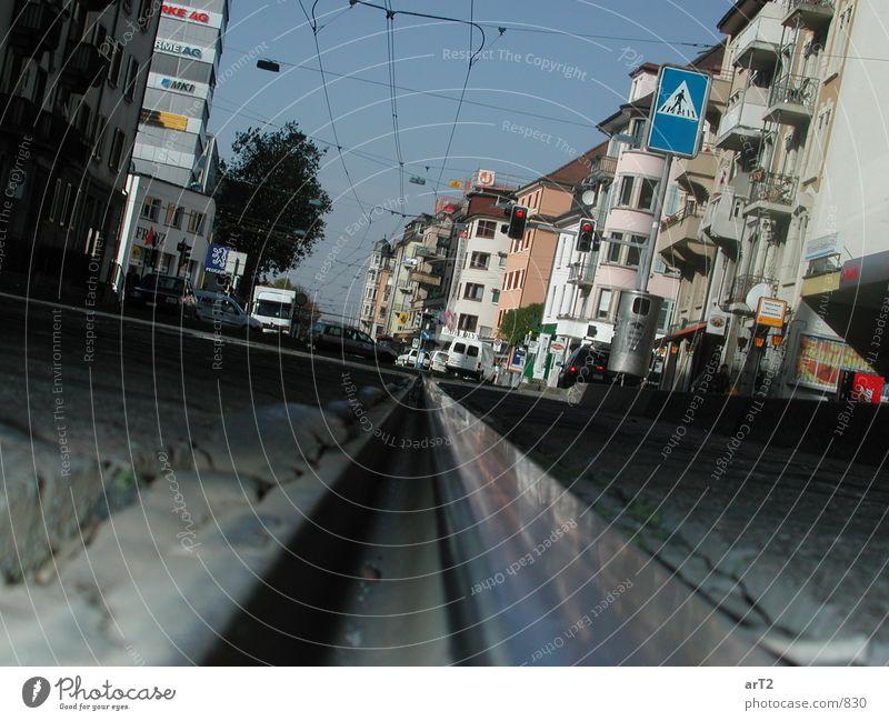 zoom.the.street Gleise Straßenbahn Zoomeffekt Fototechnik