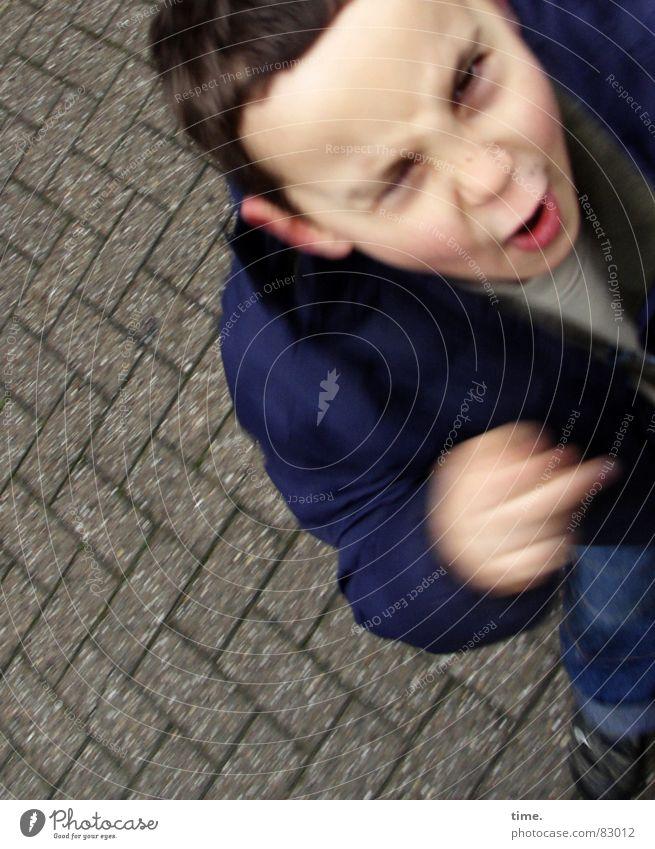 Meinungsmacher (dynamic style) Porträt Gesicht Flirten Wissenschaften Kind Energiewirtschaft Junge Auge Straße Bewegung Kommunizieren schreien Wut Gefühle Kraft