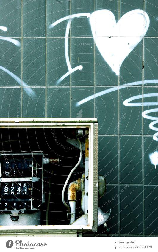I LOVE 824,10 ! blau grün Wand Stil Herz kaputt Industrie fahren Stoff fantastisch Fliesen u. Kacheln Flüssigkeit Rost türkis Wachsamkeit