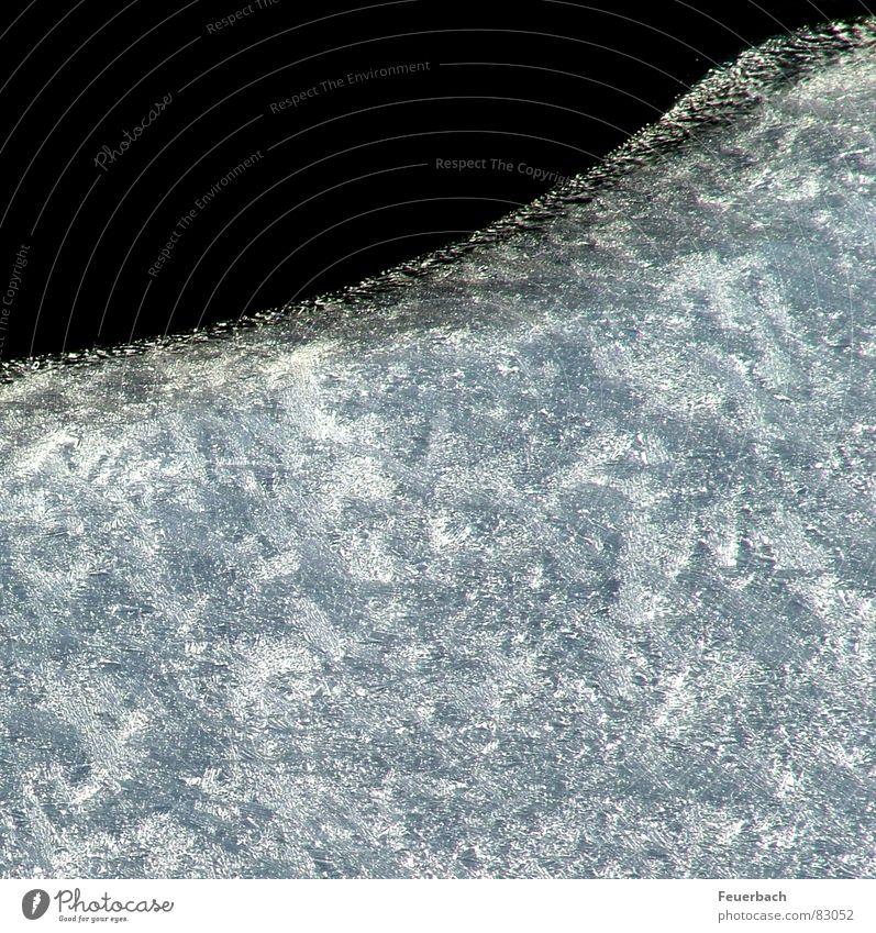 Eis Farbfoto Außenaufnahme Strukturen & Formen Menschenleer Kontrast Winter Wasser Frost Küste Seeufer Flussufer Bach frieren kalt Eisscholle Composing Ecke