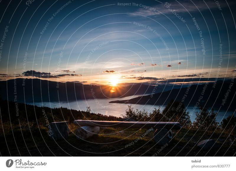 Fernweh Ferien & Urlaub & Reisen Ausflug Ferne Freiheit Sommer Natur Landschaft Pflanze Himmel Horizont Sonnenaufgang Sonnenuntergang Schönes Wetter Hügel