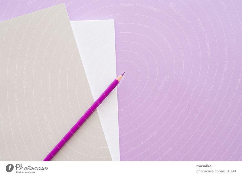 Lila Büro 4 feminin Stil Lifestyle rosa Arbeit & Erwerbstätigkeit Business Design Ordnung Büro modern Erfolg ästhetisch lernen Studium Papier planen