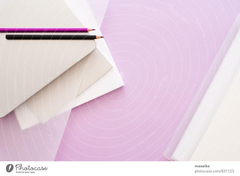 Lila Büro 1 feminin Stil Lifestyle rosa Arbeit & Erwerbstätigkeit Design Ordnung modern Erfolg lernen Papier planen violett Bildung Beruf