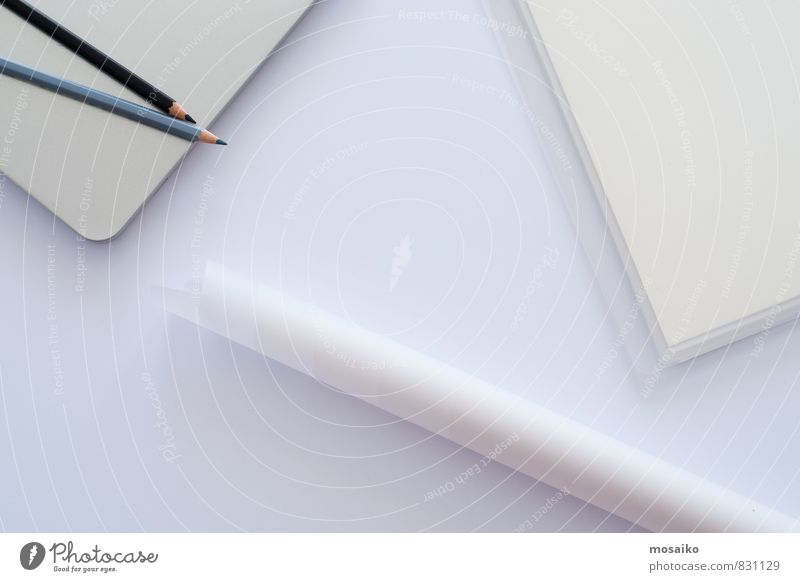 Schreibtisch weiß sprechen Stil grau Arbeit & Erwerbstätigkeit Business Lifestyle Büro elegant Design Erfolg lernen Papier Idee Bildung schreiben