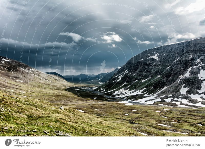 Midnight Sun VIII Zufriedenheit Sinnesorgane Ferne Freiheit Expedition Umwelt Natur Landschaft Urelemente Erde Luft Himmel Wolken Gewitterwolken Klima