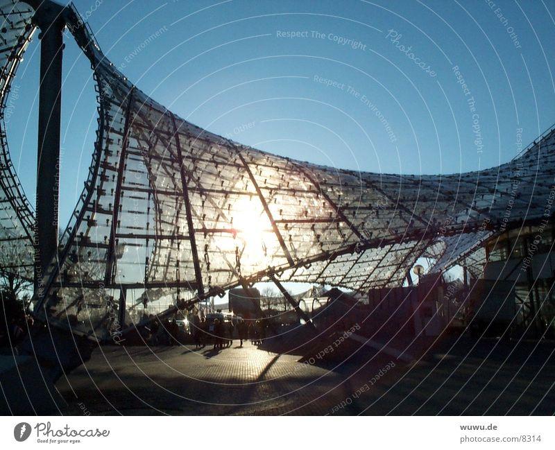 Olympiapark1 Sonne Architektur Dach München Olympiapark