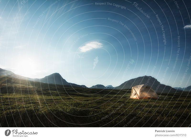 Midnight Sun V Wohlgefühl Zufriedenheit Sinnesorgane Erholung ruhig Ausflug Abenteuer Ferne Freiheit Expedition Camping Umwelt Natur Landschaft Urelemente Erde