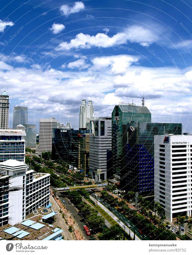 Jakarta's Scrapers Stadt Indonesien