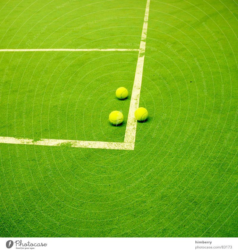 matchballs III grün Freude Sport Spielen Linie Platz Freizeit & Hobby Spielfeld Lagerhalle Tennis Sportler Spielplatz Sportplatz Grünfläche Sportverein Tennisplatz