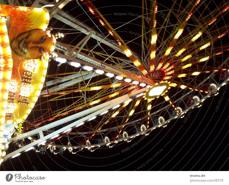 Riesenrad München Frühlingsfest Nacht Licht Jahrmarkt Club