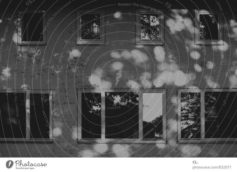 licht Haus Gebäude Architektur Mauer Wand Fenster Schwarzweißfoto Außenaufnahme Menschenleer Tag Licht Schatten Lichterscheinung Sonnenlicht