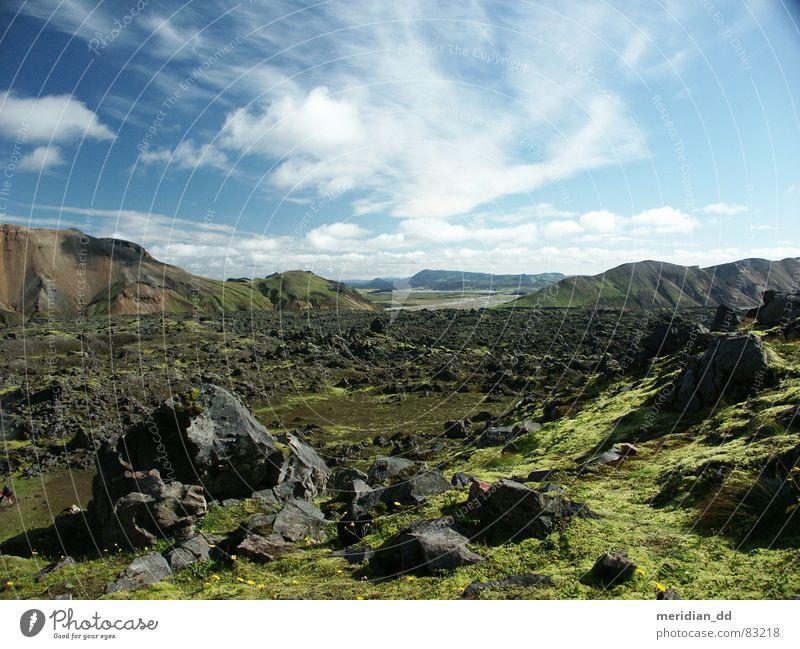 Island Stein Wolken Europa Panorama (Aussicht) Berge u. Gebirge Obsidian Vulkan Landschaft Natur Ferien & Urlaub & Reisen Kontrast groß
