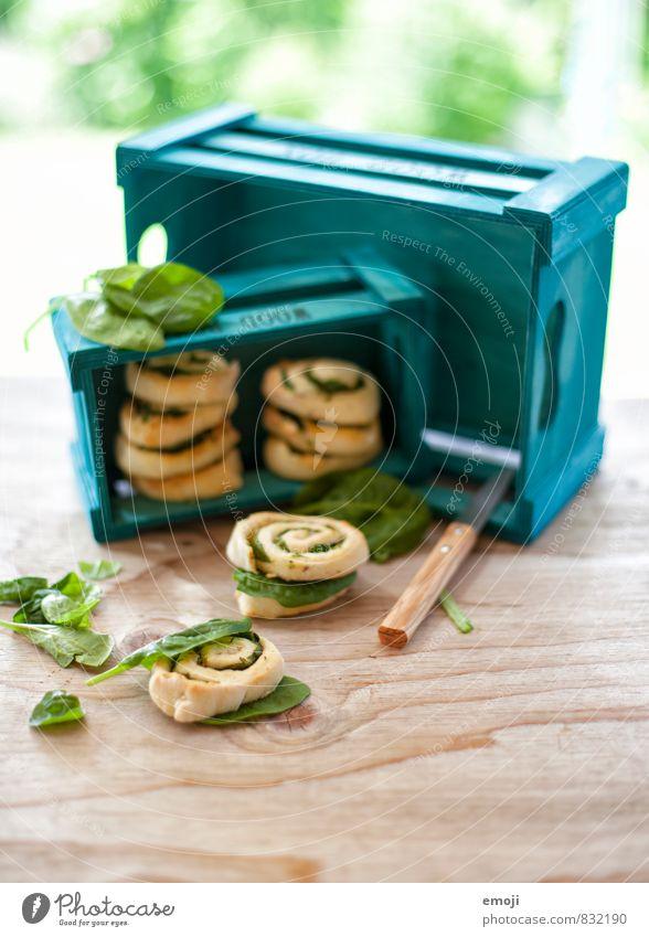 Spinatschnecken grün natürlich Gesundheit frisch Ernährung Gemüse Bioprodukte Backwaren Teigwaren Vegetarische Ernährung Schnecke Fingerfood Spinatblatt