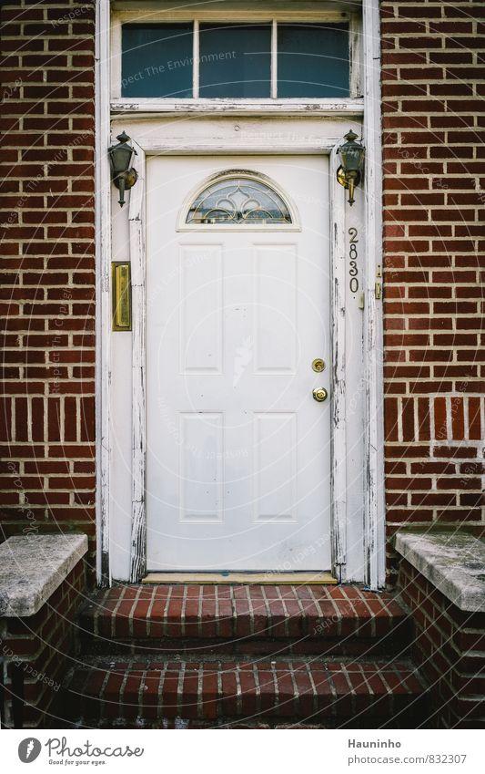 2830 Wohnung Haus New York City Brooklyn USA Stadt Stadtrand Einfamilienhaus Gebäude Architektur Mauer Wand Treppe Fassade Tür Namensschild Klingel Briefkasten