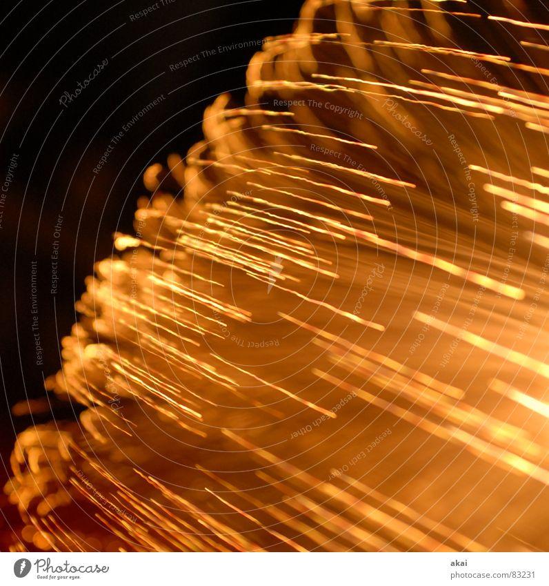 Ufo-Lichterspiel 1 Ufolampe Fernsehlampe Belichtung UFO Lichtspiel Langzeitbelichtung Experiment Streifen Glasfaser Studie Wohnzimmer streifenlicht fernsehlicht
