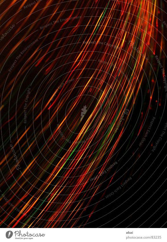Ufo-Lichterspiel 4 Ufolampe Fernsehlampe Belichtung UFO Lichtspiel Langzeitbelichtung Experiment Streifen Glasfaser Studie Wohnzimmer glasfaserleuchte