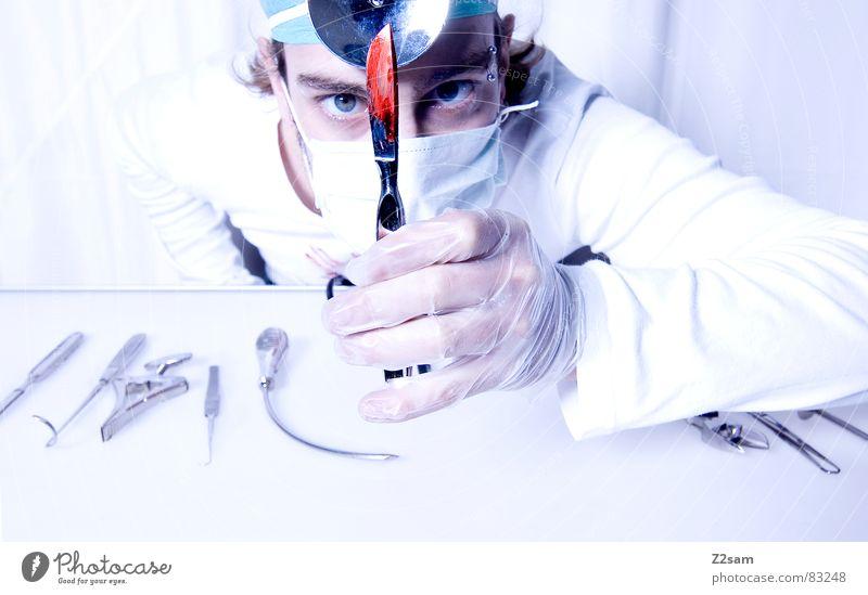 """doctor """"kuddl""""- skalpell Arzt Krankenhaus Chirurg Skalpell Gesundheitswesen Mundschutz Spiegel Handschuhe Operation geschnitten Werkzeug sterill clean"""