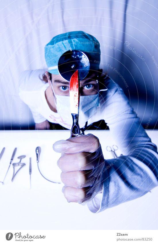 """doctor """"kuddl"""" - skalpell II Gesundheitswesen Arzt Spiegel Krankenhaus Werkzeug Blut Musikinstrument geschnitten Handschuhe Mundschutz Operation Chirurg"""