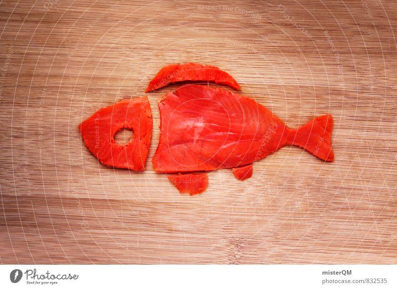 Fischfreund. Lousy Lachs. Kunst ästhetisch Fischereiwirtschaft Fischauge Fischgericht Lachsfilet Lachszucht Gesundheit Ernährung Schwimmen & Baden rot rosa Idee